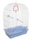 Клетка для мелких декоративных птиц Арка 44*27*65, белая