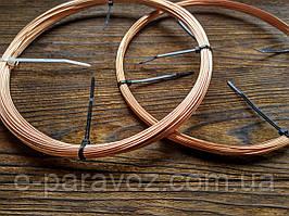 Медь 2 мм - 10 метров, медная проволока для рукоделия, бисера, бижутерии