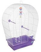 Клетка для мелких и средних декоративных птиц Арка большая 44*27*75, белая