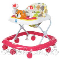 Ходунки детские Bambi M 3656 силикон 5 цветов. Мелодии. Игровая панель. Регулировка сиденья по высоте, фото 2