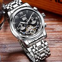 Часы мужские наручные Tevise (9005), Черные, механические, с автоподзаводом