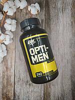Витамины Opti men 240 tab Optimum Nutrition ТОП витамины и минералы витаминно-минеральный комплекс