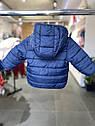 Детская демисезонная курточка для малыша Vertbaudet (Франция)/ синяя / жёлтая 9 мес/71 см, фото 8