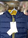 Детская демисезонная курточка для малыша Vertbaudet (Франция)/ синяя / жёлтая 9 мес/71 см, фото 10