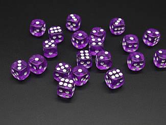 Кістки гральні. Колір фіолетовий. 14мм