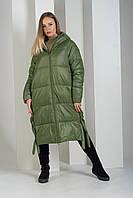 Пуховик Boruoss 5188 Зеленого цвета M, фото 1