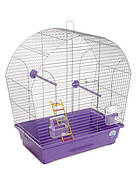 Клетка для мелких декоративных птиц Лина 44*27*54, хром