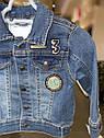 Детская джинсовая курточка для малыша Vertbaudet (Франция) ,для  мальчика 18 мес/80 см, фото 7