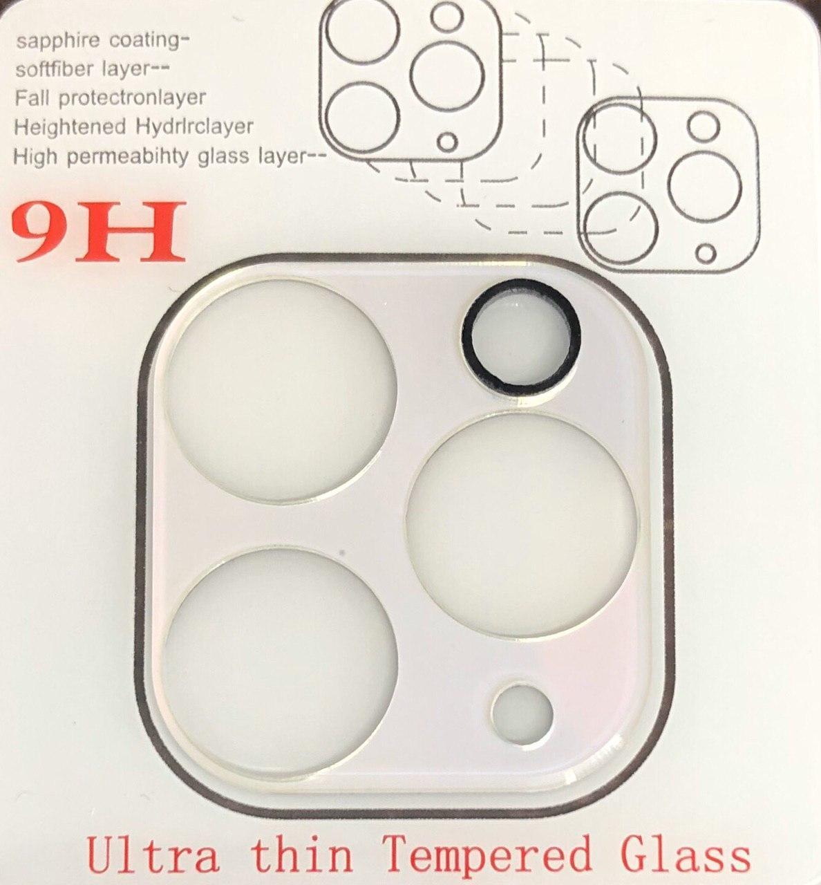 Скло 5D на камеру iPhone 11 Pro Max біле , захисне