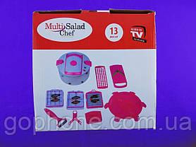 Овощерезка Multi Salad Chef 13 (Розовый), фото 3
