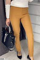 Брюки женский весна-осень костюка 42-48 размеров,цвет горчица