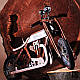 Беговел мотоцикл Bartka Daisy Sign коричневый Vel-21, фото 8