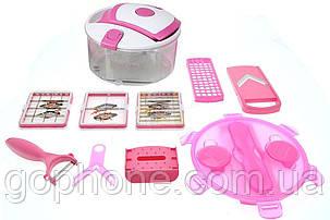 Овощерезка Multi Salad Chef 13 (Розовый), фото 2