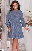 Платье женское летнее легкое софт больших размеров 50-60 батал,цвет синий