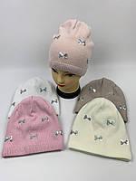 Подростковые демисезонные вязаные шапки для девочек оптом, р.48-50, Grans (k544), фото 1