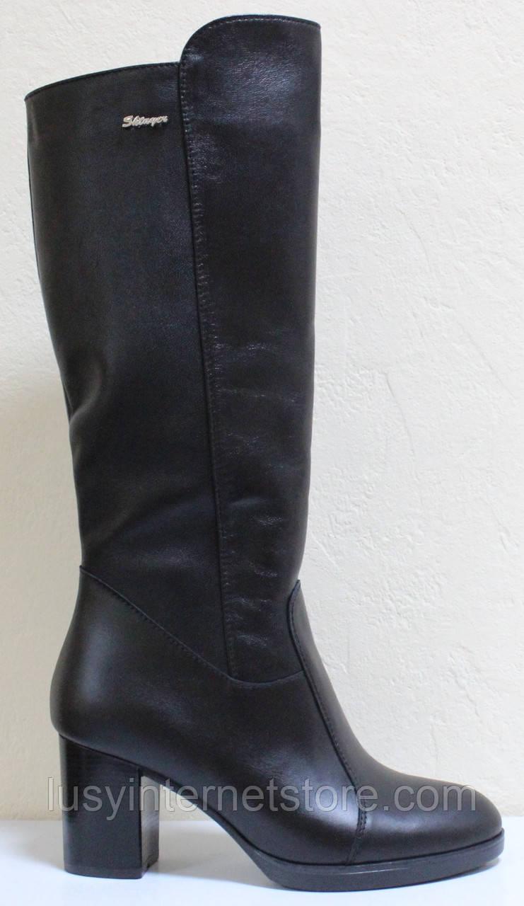Зимние сапоги женские на каблуке от производителя модель СТС12