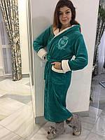Теплый красивый  женский махровый  халат 44-46-48-50, доставка по Украине