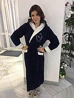 Теплый красивый  женский махровый  халат 44-46-48-50р , доставка по Украине