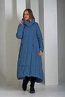Пуховик Boruoss 2008 Джинсового цвета XL, фото 1