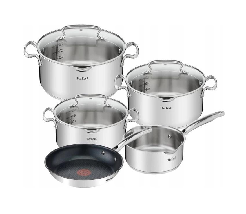 Набор посуды TEFAL DUETTO + Сковорода 8 ел