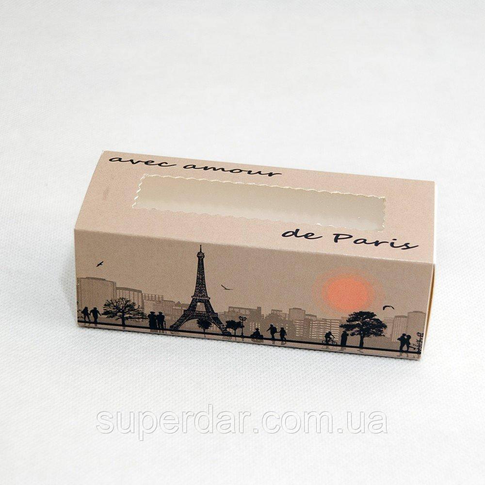 Коробка для macarons, печенья, конфет и изделий Hand Made, 141х59х49, PARIS