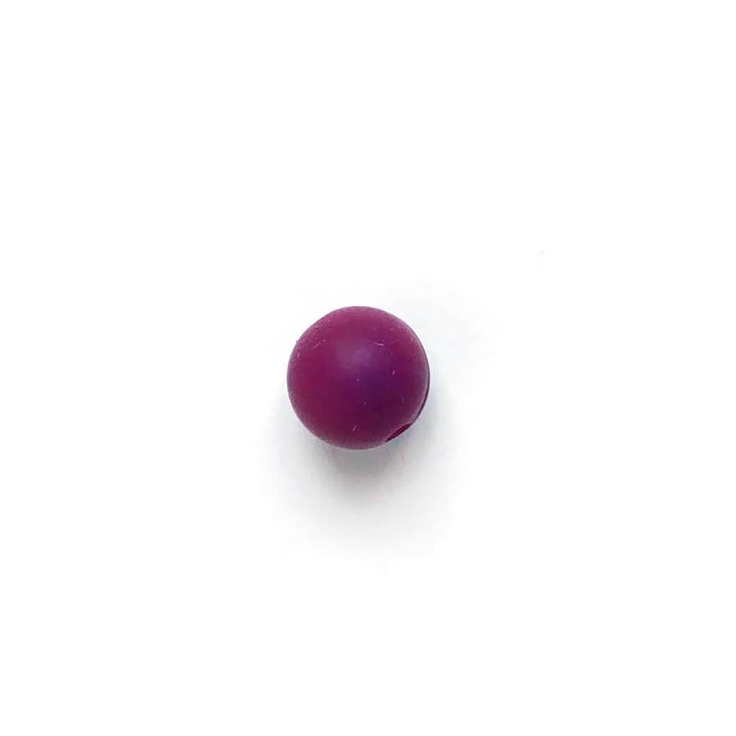 9мм (винный) круглая, силиконовая бусина