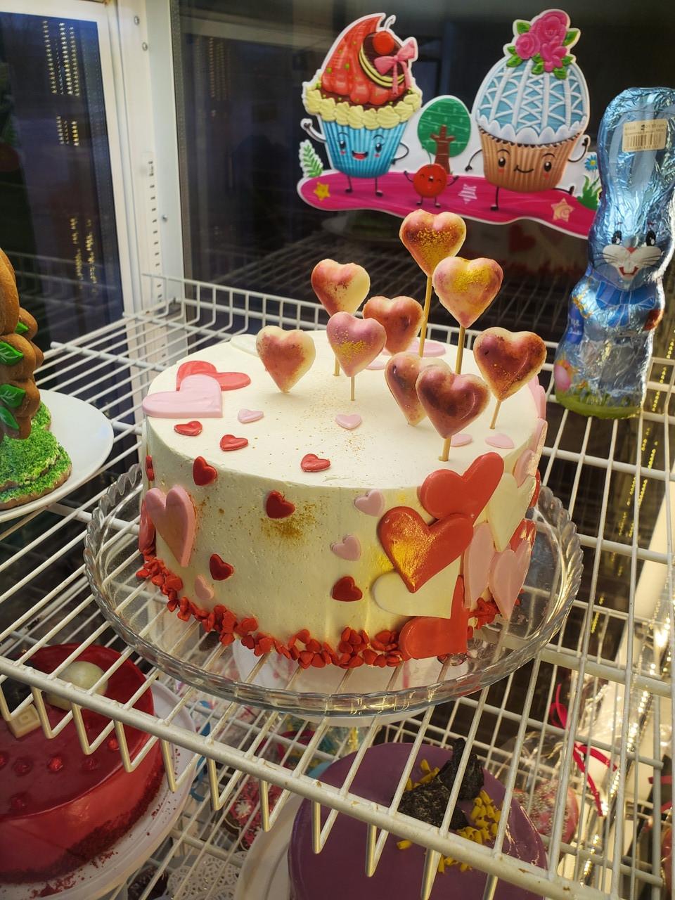 Торт Валентинка
