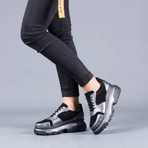 Модные женские кроссовки на высоко подошветнатуральная кожа Размерный ряд 36-40, фото 2