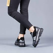 Модные женские кроссовки на высоко подошветнатуральная кожа Размерный ряд 36-40, фото 3