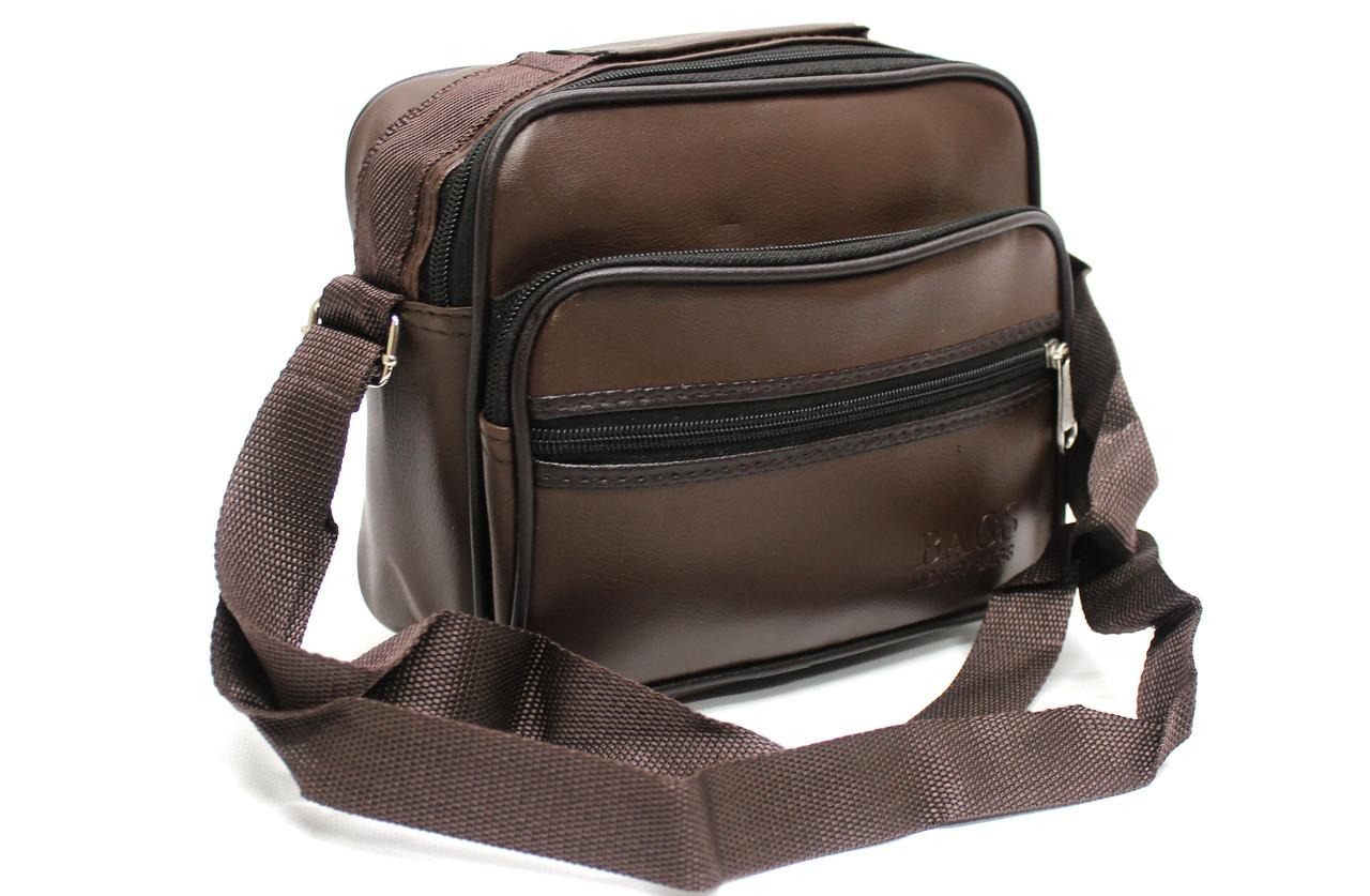 """Мужская сумка через плечо из эко-кожи """"Bags YR 203"""""""