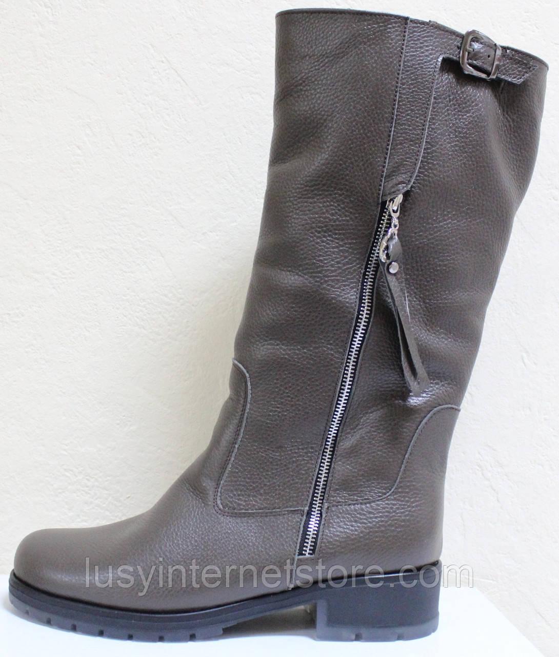 Чоботи жіночі зимові шкіряні великого розміру від виробника модель ВБ1111