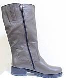 Чоботи жіночі зимові шкіряні великого розміру від виробника модель ВБ1111, фото 3