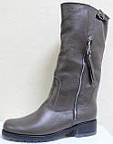 Чоботи жіночі зимові шкіряні великого розміру від виробника модель ВБ1111, фото 2