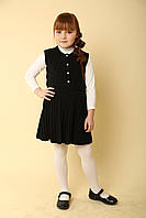 Сарафан шкільний трикотажний, чорний, фото 1