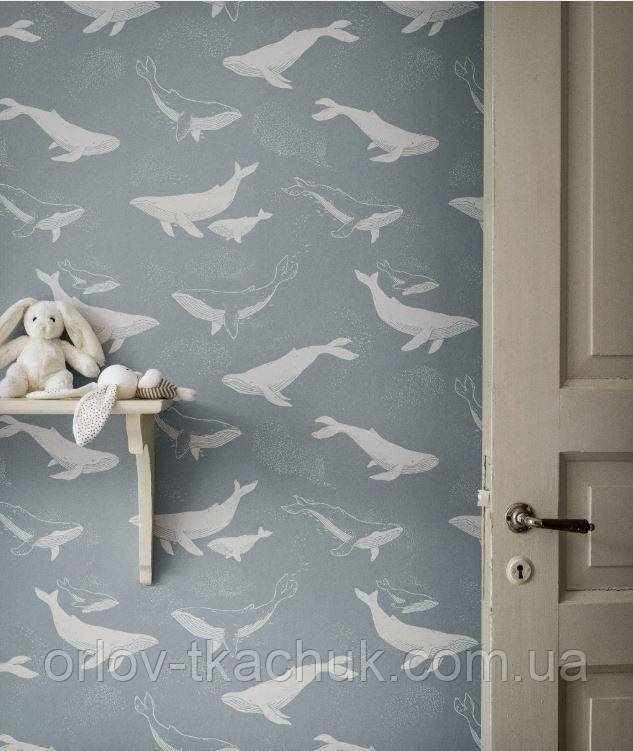 Шпалери в дитячу Whales Newbie Wallpaper Boråstapeter