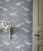 Шпалери в дитячу Whales Newbie Wallpaper Boråstapeter, фото 1