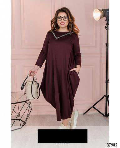 Платье женское трикотажное размеры:50-58, фото 2