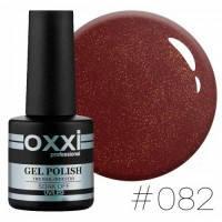 Гель-лак Oxxi Professional №82 бордовый с микро блеском, 10 мл