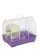 Клетка для мелких декоративных грызунов Фаворит с колесом 30*20*24, белая