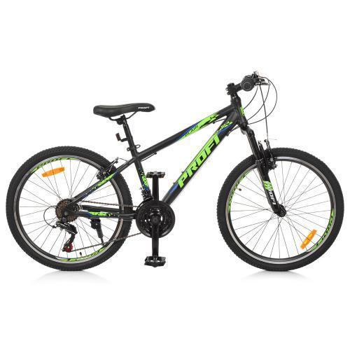 Велосипед спортивный городской Profi 24 Д G24PLAIN A24.3 SHIMANO 21SP черный