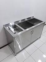 Ванна моечная из нержавеющей стали 1400х600х850, фото 1
