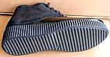 Черевики жіночі шкіряні чорні туфлі на танкетці від виробника модель БР1012Д, фото 4