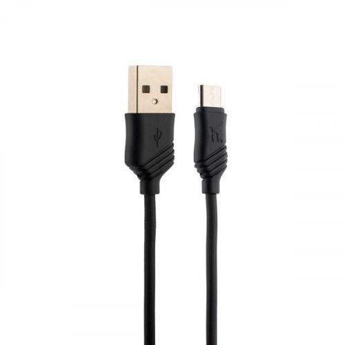 Кабель USB HOCO X6m Black micro-usb Чорний, 100 см