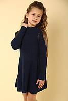 Платье детское трикотажное синее