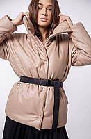 """Куртка женская демисезонная с эко-кожи, размеры 42-46 (2цв)""""DARIYA"""" купить недорого от прямого поставщика"""