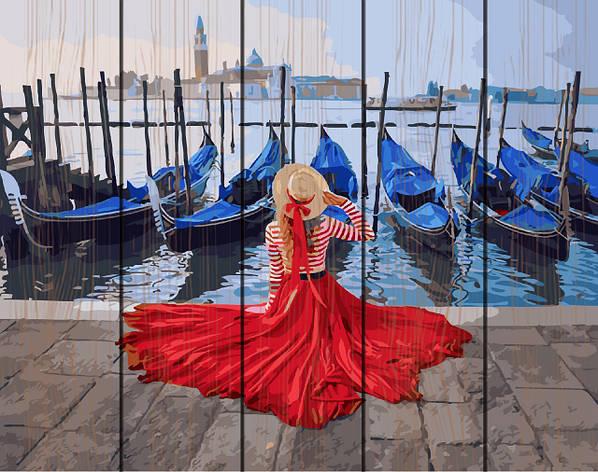 Картина по номерам на дереве 40*50см. У  причала в Венеции Rainbow Art GXT24895 в подарочной коробке, фото 2