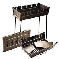 Мангал - чемодан 2 мм на 10 шампуров для шашлыков и отдыха на природе для дачи.