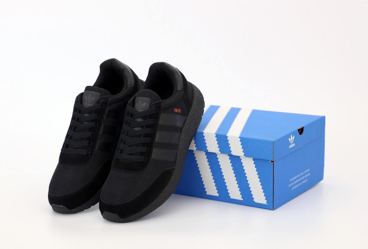 Мужские черные кроссовки Adidas Iniki Runner Black