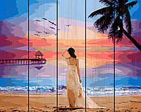 Картина по номерам на дереве 40*50см. Тропический рассвет Rainbow Art GXT29454 в подарочной коробке