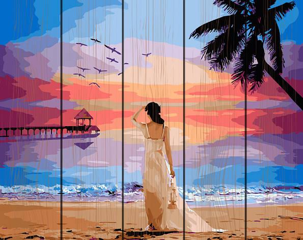 Картина по номерам на дереве 40*50см. Тропический рассвет Rainbow Art GXT29454 в подарочной коробке, фото 2